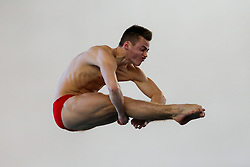 Jack Haslam of City of Sheffield Diving Club competes in the Mens 3m Springboard Preliminary - Photo mandatory by-line: Rogan Thomson/JMP - 07966 386802 - 21/02/2015 - SPORT - DIVING - Plymouth Life Centre, England - Day 2 - British Gas Diving Championships 2015.