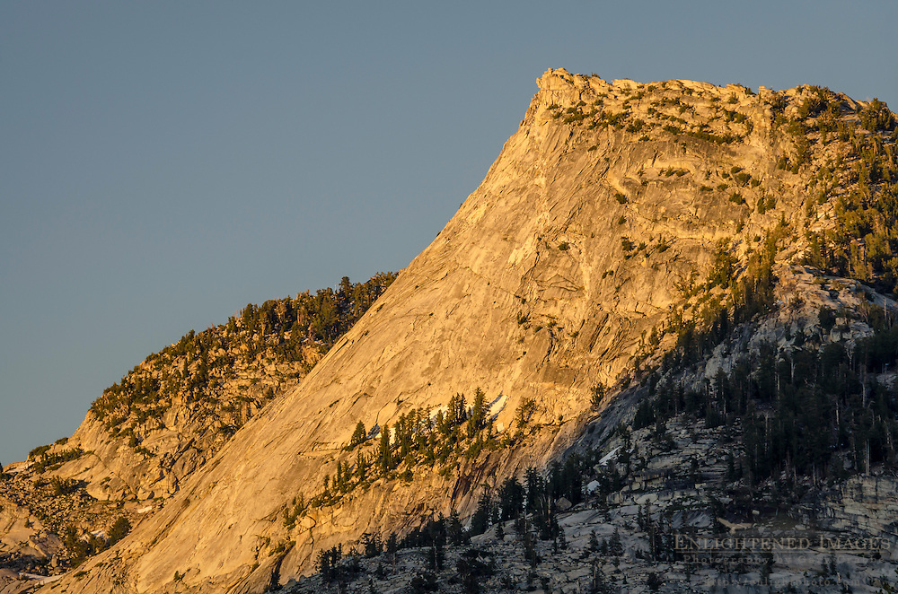 Sunset light on Tenaya Peak, Yosemite National Park, California
