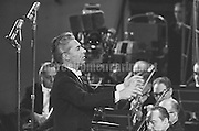Rome, about 1960. Music conductor Herbert von Karajan during a performance / Roma 1960 circa. Herbert von Karajan mentre dirige - Marcello Mencarini Historical Archives