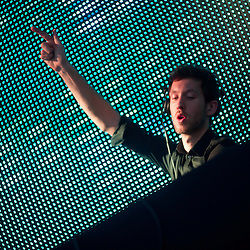 Calvin Harris throwin' down in the Dance Forest.