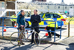 Pictured: Martin McDonnel (Spokes) and Cycling Scotland Chief Executive Keith Irving<br /> <br /> A new policing initiative to promote cycle safety was launched in Edinburgh today. The operation saw drivers pulled over for passing too close to an unmarked police cyclist or any other vehicle.<br /> Ger Harley | EEm 24 April 2017