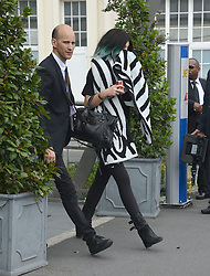 Kim's driver Mickael Madar with Kylie Jenner Arriving at Bourget airport after wedding ceremony of her sister Kim. Kardashian family and guests arriving at the Bourget airport, after wedding ceremony of kim Kardashian and Kanye West in Florence. Bourget, near Paris, France, on May 25, 2014. Kim's drivers Mickael Madar and his brother Gary Madar are the main suspects three months after the Kim Kardashian' robbery in a mansion in Paris during Fashion Week, the police conducted an extensive dragnet. 16 people aged 23-73 years arrested at 6am this morning in Paris and suburb. Photo by ABACAPRESS.COM