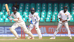 August 3, 2017 - Colombo, Sri Lanka - Indian cricketer ..Cheteshwar Pujara(L) plays during the 1st Day's play in the 2nd Test match between Sri Lanka and India at the SSC international cricket stadium at the capital city of Colombo, Sri Lanka on Thursday 03 August 2017. (Credit Image: © Tharaka Basnayaka/NurPhoto via ZUMA Press)