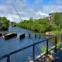 Fishing Gear along River Corrib in Galway, Ireland<br />