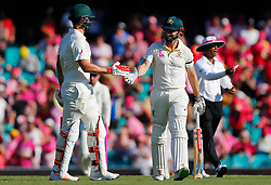 Australia's Shaun Marsh walks off with his brother Mitchell at the end of play during day two of the Ashes Test match at Sydney Cricket Ground.