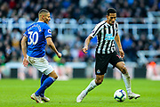 Isaac Hayden (#14) of Newcastle United on the ball during the Premier League match between Newcastle United and Everton at St. James's Park, Newcastle, England on 9 March 2019.