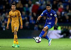 Riyad Mahrez of Leicester City passes the ball - Mandatory by-line: Robbie Stephenson/JMP - 18/05/2017 - FOOTBALL - King Power Stadium - Leicester, England - Leicester City v Tottenham Hotspur - Premier League