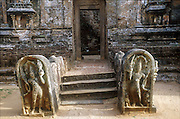 Guard Stones at the entrance to a temple in Polonnaruwa. A UNESCO World Heritage Site.