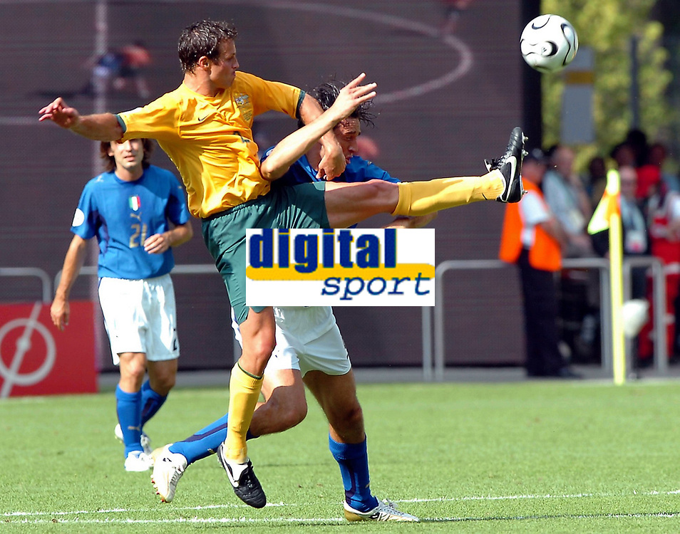 Photo: AF Wrofoto/Sportsbeat Images.<br />Italy v Australia. 2nd Round, FIFA World Cup 2006. 26/06/2006.<br />Lucas Neill of Australia.