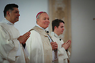 Bishop Edward J. Burns on Wednesday, Feb. 8, 2017 at Cathedral Guadalupe as he prepares to become the eighth bishop of the Catholic Diocese of Dallas. (Photo by Kevin Bartram)