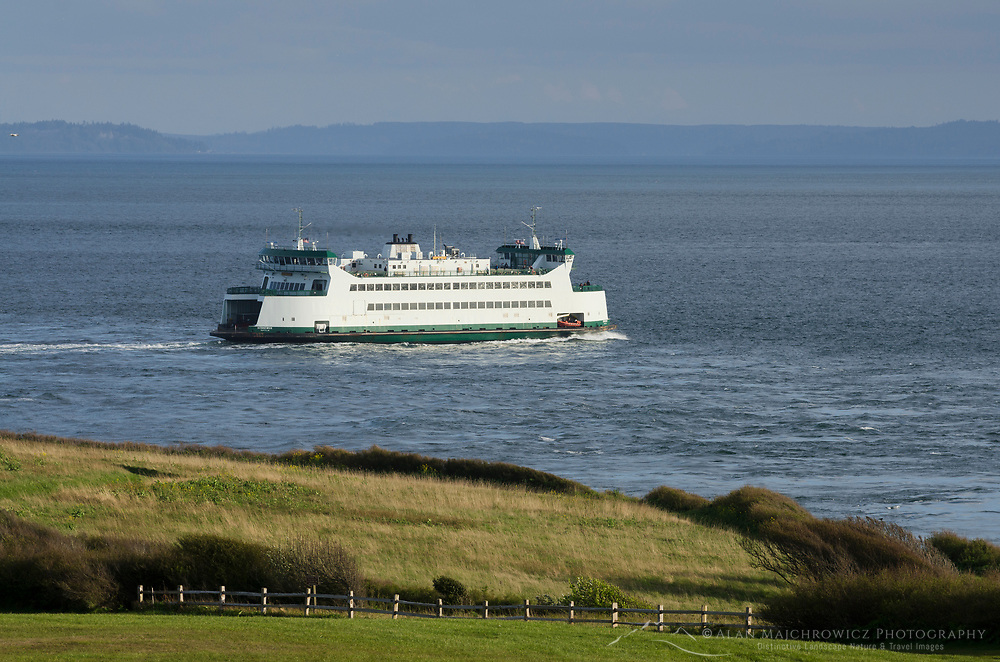 Washington State Ferry crossing Admiralty inlet on the Keystone to Port Townsend run.