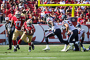 San Francisco 49ers quarterback Thad Lewis (9) carries the ball against the Houston Texans at Levi's Stadium in Santa Clara, Calif., on August 14, 2016. (Stan Olszewski/Special to S.F. Examiner)