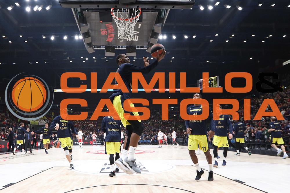 Team Fenerbahce pregame, AX ARMANI EXCHANGE OLIMPIA MILANO vs FENERBAHCE DOGUS ISTANBUL, EuroLeague 2017/2018 Milano Mediolanum Forum 19 ottobre 2017 foto Bertani/Ciamillo-Castoria