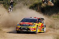 MOTORSPORT - WORLD RALLY CHAMPIONSHIP 2010 - RALLY RACC CATALUNYA COSTA DAURADA / RALLY DE ESPANA / RALLYE D'ESPAGNE - SALOU (SPA) - 21 TO 24/10/10 - PHOTO : FRANCOIS BAUDIN / DPPI - <br /> SOLBERG PETTER (NOR) / PATTERSON CHRIS (GBR) - CITROËN C4 WRC - PETTER SOLBERG WRT - ACTION