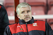 Swindon Town manager Martin Ling during the Sky Bet League 1 match between Swindon Town and Walsall at the County Ground, Swindon, England on 24 November 2015. Photo by Shane Healey.