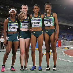 YOKOHAMA, JAPAN - MAY 11: Tebogo Mamatu, Justine Palframan, Tamzin Thomas and Roze Xeyi of South Africa during day 1 of the IAAF World Relays at Nissan Stadium on May 11, 2019 in Yokohama, Japan. (Photo by Roger Sedres/Gallo Images)