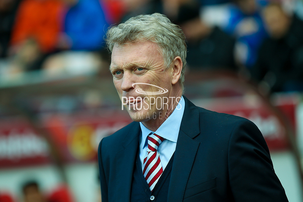 Sunderland Manager David Moyes  during the Premier League match between Sunderland and West Ham United at the Stadium Of Light, Sunderland, England on 15 April 2017. Photo by Simon Davies.