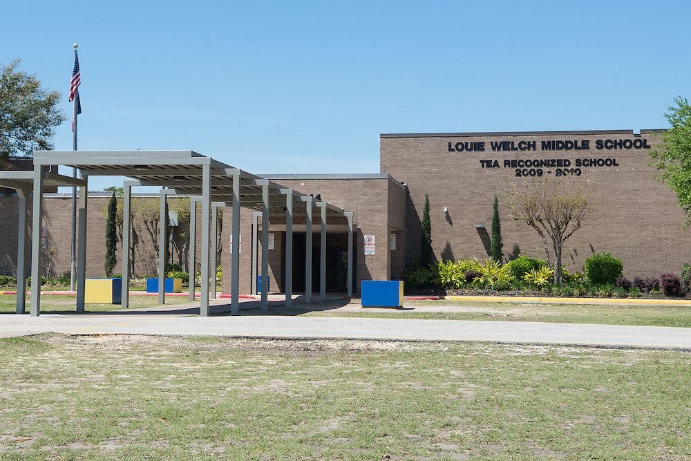 Louie Welch Middle School photographed April 5, 2013. The school was a recipient of funds from the 2007 Bond.