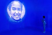 A photo gallery of people and landscapes welcomes visitors at Morocco pavilion at Expo 2015, Rho-Pero, Milan. &copy; Carlo Cerchioli<br /> <br /> Una galleria fotografica di persone e panorami accoglie il visitatore al padiglione del Marocco a Expo 2015, Rho-Pero, Milano.