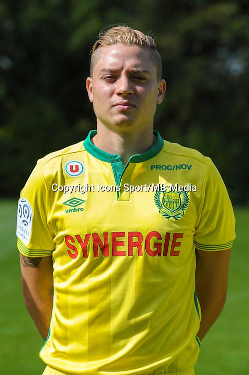 Adryan Oliveira Tavares - 14.09.2015 - Photo officielle de Nantes<br />Photo : Andre Ferreira / Icon Sport