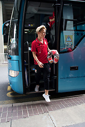 LONDON, ENGLAND - Thursday, September 14, 2017: Wales' Jessica Fishlock arrives at Heathrow Airport as the squad travel to Kazakhstan ahead of the FIFA Women's World Cup 2019 Qualifying Round Group 1 match against Kazakhstan. (Pic by David Rawcliffe/Propaganda)