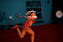 May 5, 2019 - Madrid, Spain - Dayana Yastremska (UKR) in her match against Karolina Pliskova (CZE) during day two of the Mutua Madrid Open at La Caja Magica in Madrid on 5th May, 2019. (Credit Image: © Juan Carlos Lucas/NurPhoto via ZUMA Press)