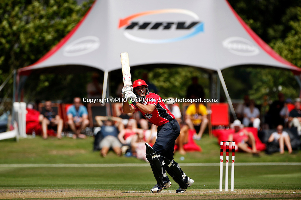 Canterbury Batsman Dean Brownlie. Canterbury Wizards v Auckland Aces in the One Day Competition, Preliminary Semi Final. QEII Park, Christchurch, New Zealand. Sunday, 06 February 2011. Joseph Johnson / PHOTOSPORT.