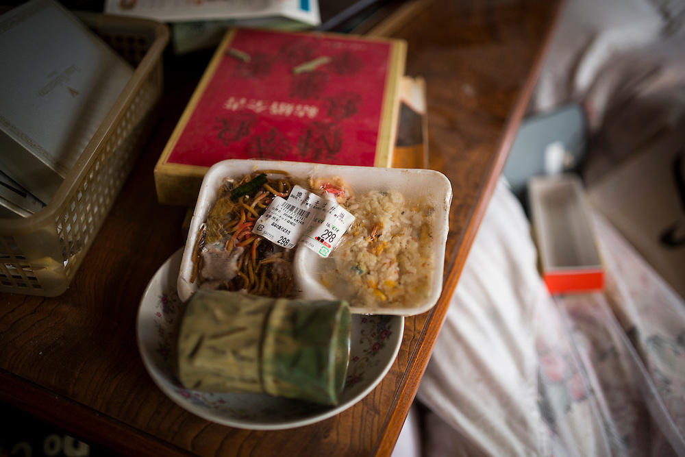 KUMAMOTO, JAPAN - APRIL 22: A food left inside the wreck house is seen on early morning on Friday April 22, 2016 in Mashiki Town, Kumamoto, Japan. To date 48 people are confirmed dead and more than 80,000 people have evacuated after an 6.5 earthquake on Thursday night and a stronger 7.3 quake on Saturday morning struck the Kyushu Island in western Japan.<br /> <br /> Photo: Richard Atrero de Guzman
