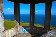 "Abandoned World War II watchtower from ""The Emegency"" - of ony 82 around Ireland used to spot foreign vessels approaching the Irish coast, at Brandon Point, Dingle Peninsula, Co. Kerry, Ireland"