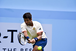 June 18, 2018 - London, England, United Kingdom - Fernando Verdasco of Spain in action during his defeat to Marin Cilic of Croatia on Day 1 of the Fever-Tree Championships at Queens Club on June 18, 2018 in London, United Kingdom. (Credit Image: © Alberto Pezzali/NurPhoto via ZUMA Press)