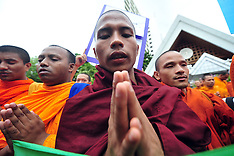 JULY 10 2013 Buddhist Monks Protest
