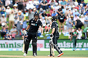 Ross Taylor of the Black Caps celebrates becoming the Highest ODI run scorer for the Black Caps, during the ANZ One Day International match between the Black Caps and Bangladesh, played at the University Oval, Dunedin, New Zealand, on February 20, 2019. Copyright Image: Joe Allison / www.Photosport.nz