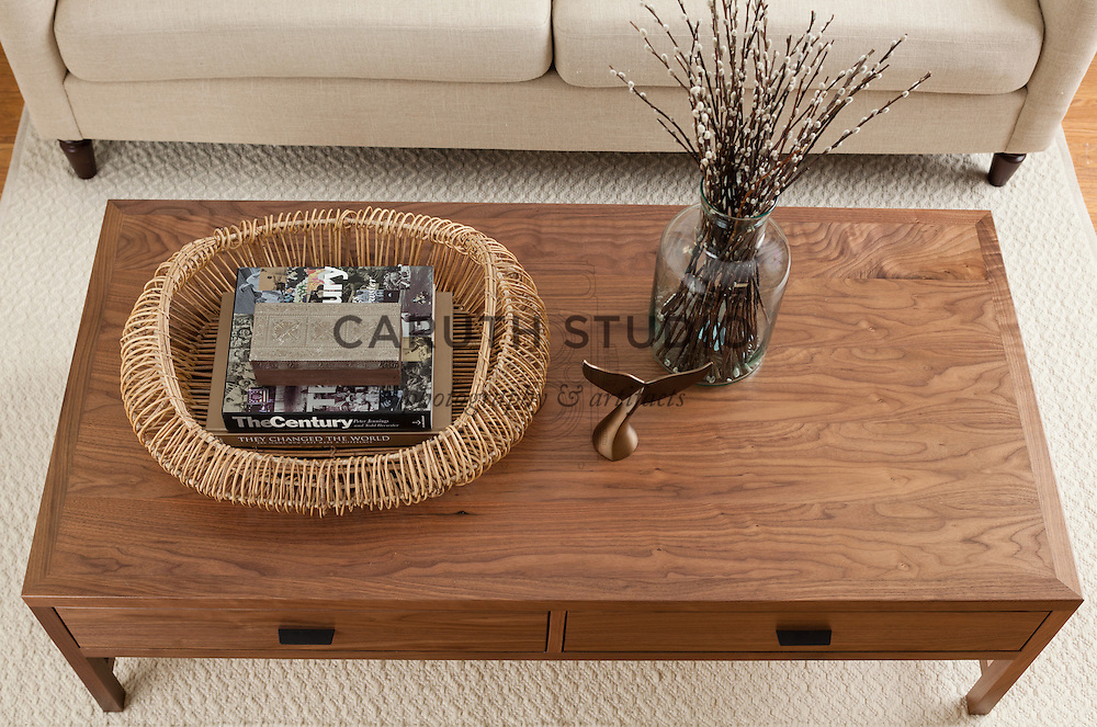 How to Style a Coffee Table: step five, add a decorative box