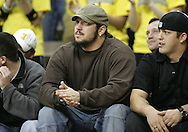 15 FEBRUARY 2007: Robert Gallery (T - Oakland Raiders) attends Iowa's 66-58 win over Northwestern at Carver-Hawkeye Arena in Iowa City, Iowa on February 15, 2007.