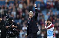 Football - 2016 / 2017 Premier League - Burnley v Arsenal at Turf Moor<br /> <br /> Arsene Wenger Arsenal manager celebrates at the final whistle<br /> <br /> <br /> COLORSPORT/LYNNE CAMERON
