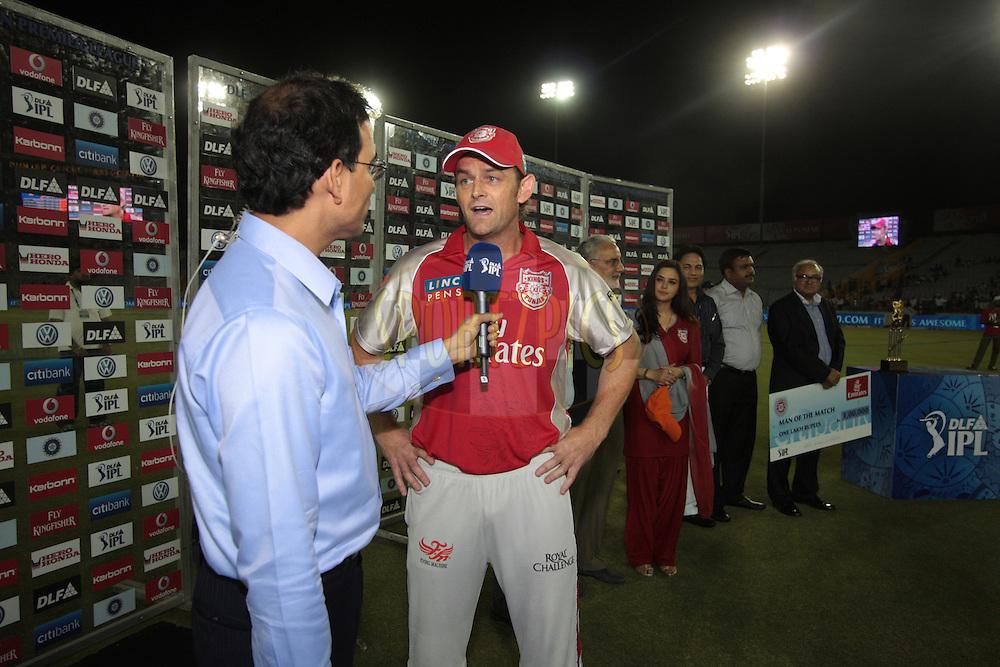 Kings XI Punjab captain Adam
