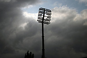 A Small break in the dark skies overhead at the Kia Oval  ahead of the Women's Cricket Super League match between Surrey Stars and Southern Vipers at the Kia Oval, Kennington, United Kingdom on 12 August 2019.