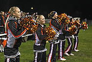 Springville cheerleaders perform during their game at Allison Field in Springville on Friday October 19, 2012. Midland defeated Springville 30-29.
