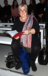 Jenni Murray at the Vivienne Westwood show  at London Fashion Week A/W 14,  Sunday, 16th February 2014. Picture by Stephen Lock / i-Images