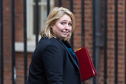 London - Secretary of State for Northern Ireland Karen Bradley attends the weekly meting of the UK cabinet at Downing Street. January 23 2018.
