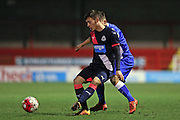 U21 Newcastle United's Callum Roberts in action during U21 Brighton and Hove Albion and U21 Newcastle United at the Checkatrade.com Stadium, Crawley, England on 23 March 2016.