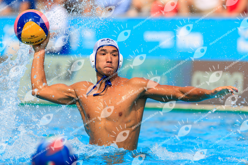 {prsn}<br /> KAZ (white cap) -  Italia (blue cap)<br /> Preliminary Round Water Polo Women<br /> Day10  23/07/2017 <br /> XVII FINA World Championships Aquatics<br /> Alfred Hajos Complex Margaret Island  <br /> Budapest Hungary <br /> Photo @Deepbluemedia/Insidefoto Photo @Marcelterbals/Deepbluemedia/Insidefoto