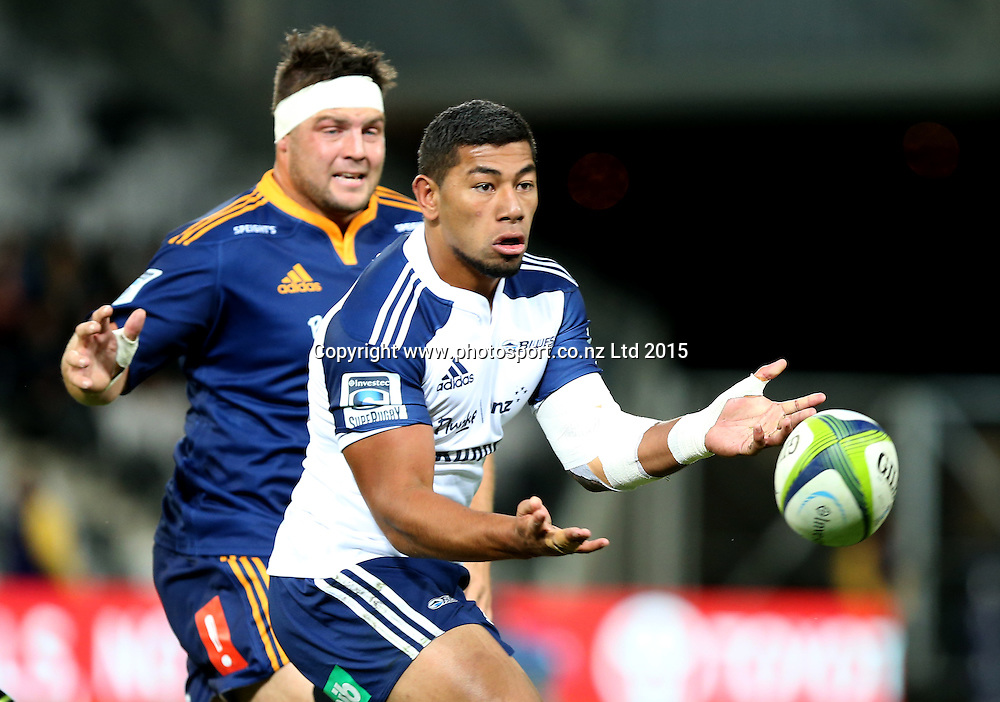 Blues Charles Piutau during the Super 15 rugby match between the Highlanders and the Blues at Forsyth Barr Stadium, Dunedin, Saturday, April 18, 2015. Photo: Dianne Manson / www.photosport.co.nz