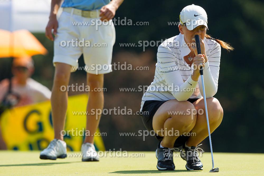 Urska Orehek of Slovenia during golf competition in day 3 of International European Ladies Amateur Championship 2012, on July 27, 2012 in Smlednik at Ljubljana, Slovenia. (Photo by Grega Valancic / Sportida)