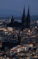 France. massif central. Clermont Ferrand. The cathedral , the old city /  / France  /   La cathedrale , la vieille ville   Clermont Ferrand  France