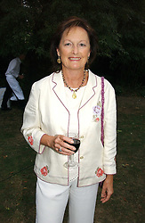 Writer RACHEL BILLINGTON at a party to celebrate the publication of Notting Hell by Rachel Johnson held in the gardens of 1 Rosmead Road, London W11 on 4th September 2006.<br />