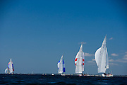 Columbia, Nefertiti, American Eagle, Weatherly, 12 Meter Class, racing in the North American Championship regatta.
