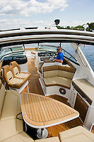 Heading into Paugus Bay from Irwin Marine with Jason Wylie in a 2015 Sea Ray 350 SLX.  (Karen Bobotas/for the Laconia Daily Sun)