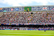 England fans fill into the stadium ahead of the UEFA Nations League 3rd place play-off match between Switzerland and England at Estadio D. Afonso Henriques, Guimaraes, Portugal on 9 June 2019.