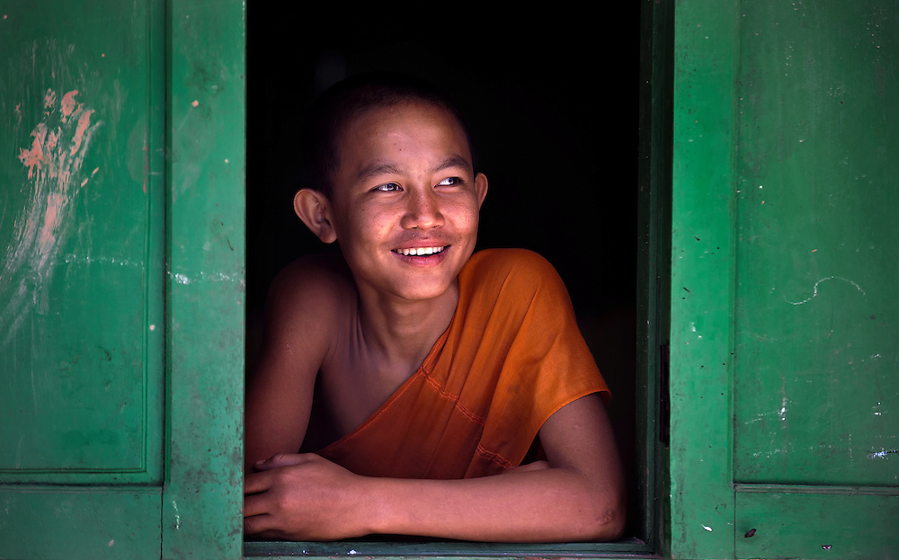 A novice in a village near Luang Namtha, Laos.